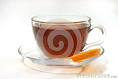 Hot tea and lemon