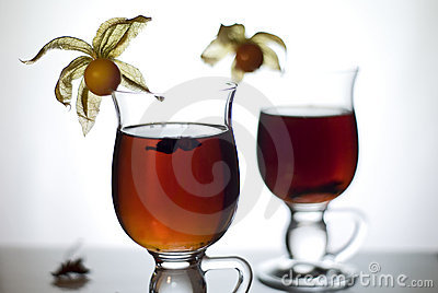 Hot tea with spices I