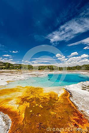 Free Hot Thermal Spring In Yellowstone Stock Images - 104625804