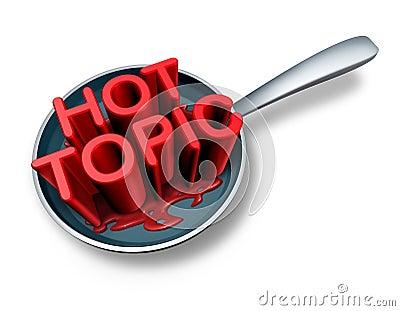 Hot Topic Stock Illustration