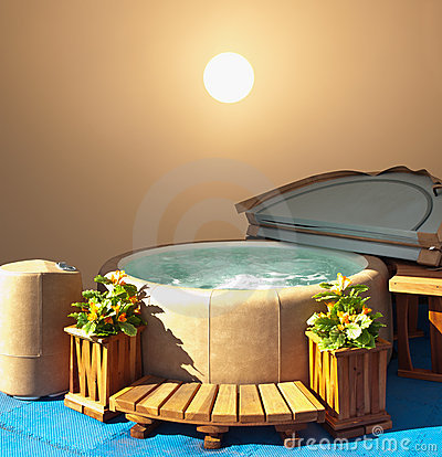Hot tub display