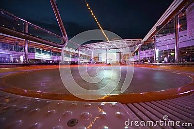 Hot tube in deck of Costa Deliziosa Editorial Image
