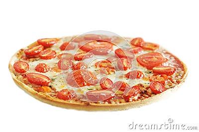 Hot vegetarian pizza