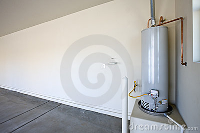Hot Water Heater in a Garage
