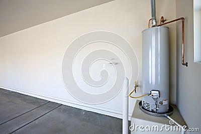 Hot Water Heater in a Garage