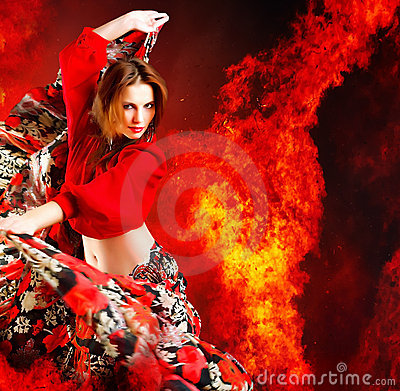 Free Hot Woman Dancer Royalty Free Stock Photography - 10743867