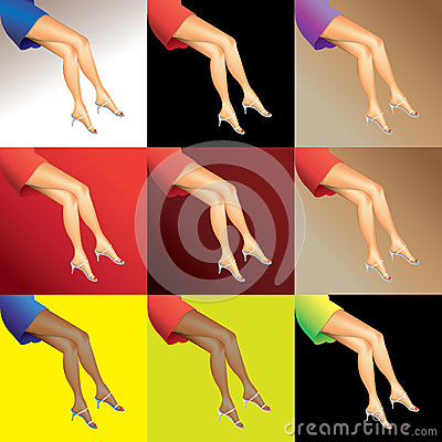 Hot woman legs
