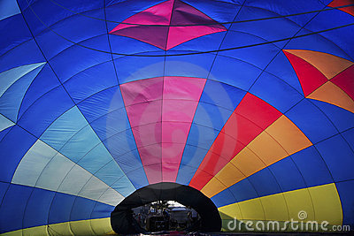 Hotair balloon from inside