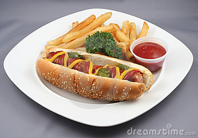 Hotdog and French fries combo