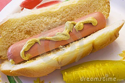 Hotdog with pickle