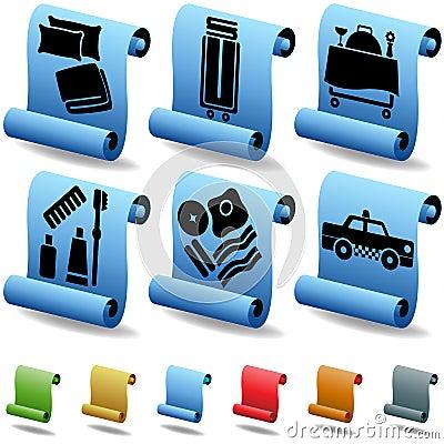 Hotel 3D Scroll Button Set
