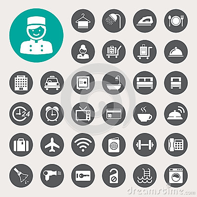 Free Hotel And Travel Icon Set Stock Images - 33922584