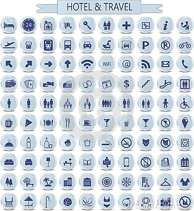 Free Hotel And Travel Icons Royalty Free Stock Photo - 38574785