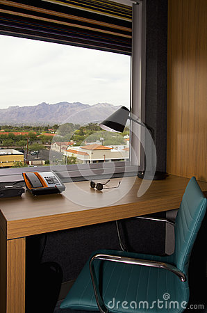 Free Hotel Apartment Built In Office Desk Stock Image - 31076601