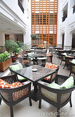 Hotel atrium cafeteria