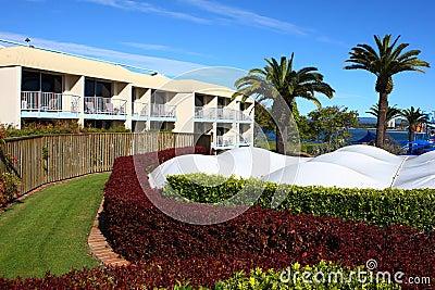 Hotel backyard