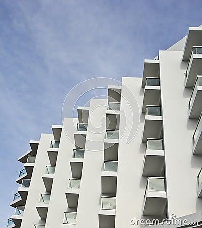Hotel balcony.