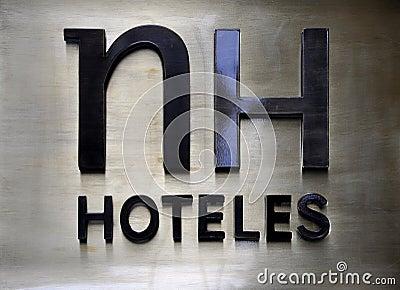 Hotel brand logo Editorial Stock Photo