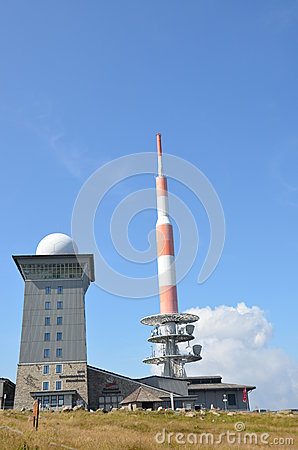 Hotel and broadcast station Editorial Stock Image