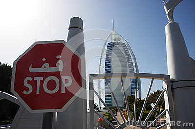 Hotel Burj Al Arab, Dubai Editorial Photography