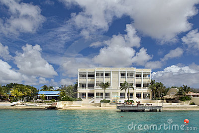 Hotel on the Caribbean islands