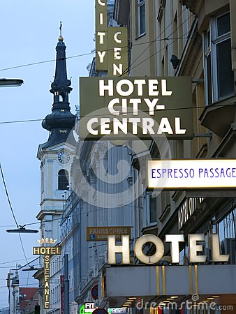 Hotel City-Central in Vienna Editorial Stock Image