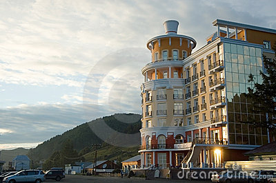 Hotel on the coast of Baikal in Listvyanka