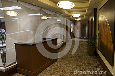 Hotel corridor Editorial Stock Photo