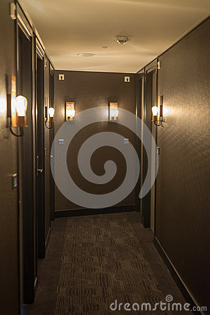 Free Hotel Corridor Interior Royalty Free Stock Images - 64212499