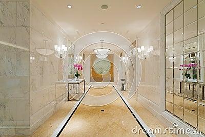 Hotel corridor lobby