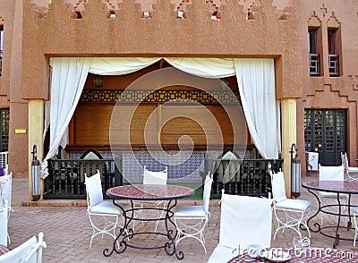 Hotel courtyard,Ouarzazate