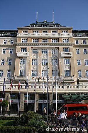 Hotel de Carlton en Bratislava (Eslovaquia) Imagen de archivo editorial