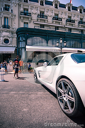 Hotel de Paris, Monaco Editorial Stock Image