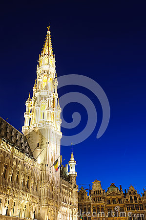 Hotel de Ville (City Hall) of Brussels, Belgium