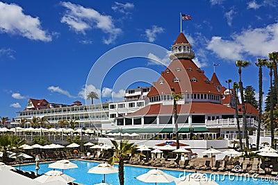 Hotel del Coronado with pool