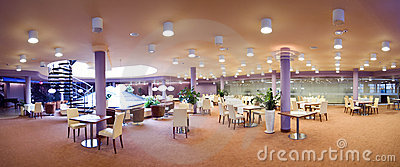 Hotel dining room panorama