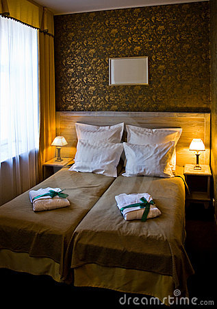 Free Hotel Double Bed  Stock Images - 5673574