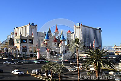 USA, Nevada/Las Vegas: Hotel Excalibur Editorial Photo