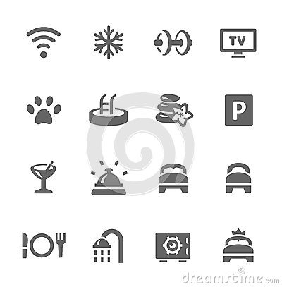 Free Hotel Features Icon Set Royalty Free Stock Photo - 32324215