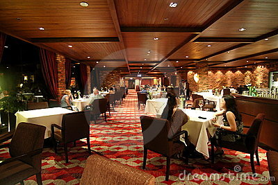 Hotel Fine Dining Restaurant Editorial Stock Image