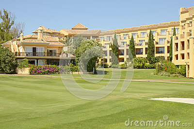 Hotel in golf course