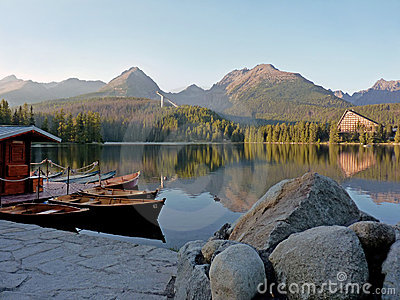Hotel and harbour in The High Tatras