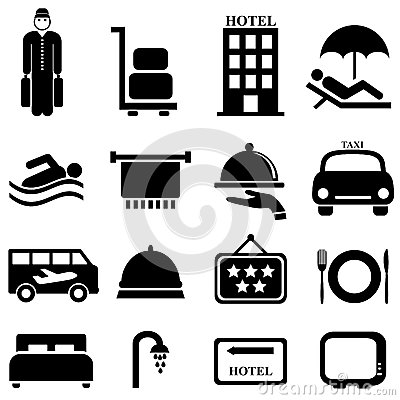 Hotel and hospitality icons
