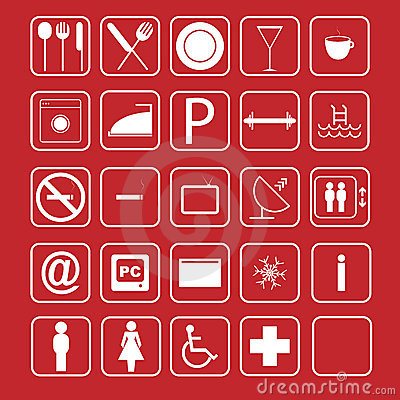 Hotel icon set - vector