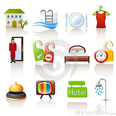 Free Hotel Icons Stock Images - 21577524