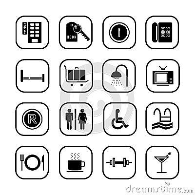 Hotel icons - B&W series