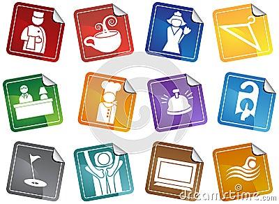 Hotel Icons - Sticker Set