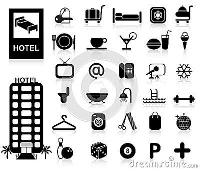 Hotel-Ikonen eingestellt