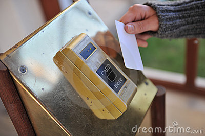 Hotel keycard machine