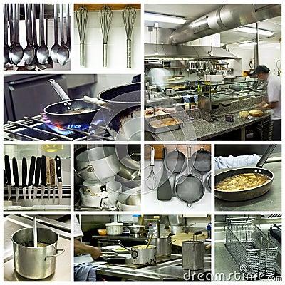 Free Hotel Kitchen Collage Royalty Free Stock Photos - 15407118